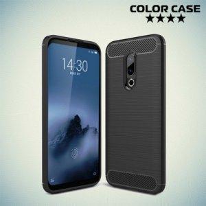 Carbon Силиконовый матовый чехол для Meizu 16 - Черный