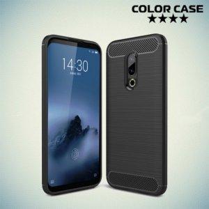 Carbon Силиконовый матовый чехол для Meizu 16 Plus - Черный
