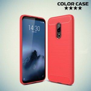Carbon Силиконовый матовый чехол для Meizu 16 Plus - Коралловый
