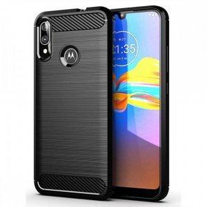 Carbon Силиконовый матовый чехол для Motorola Moto E6 Plus - Черный