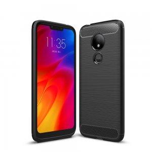 Carbon Силиконовый матовый чехол для Motorola Moto G7 Power - Черный