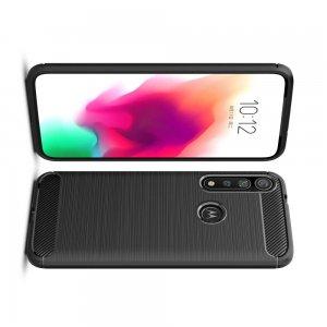 Carbon Силиконовый матовый чехол для Motorola Moto G8 Plus - Черный