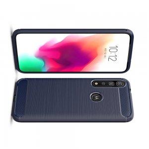 Carbon Силиконовый матовый чехол для Motorola Moto G8 Plus - Синий