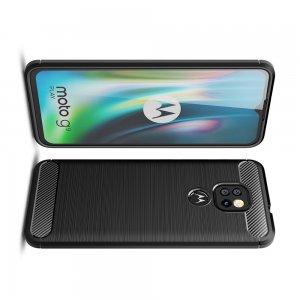 Carbon Силиконовый матовый чехол для Motorola Moto G9 Play / Moto E7 Plus - Черный