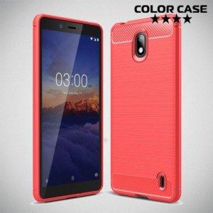 Carbon Силиконовый матовый чехол для Nokia 1 Plus - Коралловый
