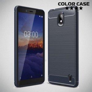 Carbon Силиконовый матовый чехол для Nokia 1 Plus - Синий
