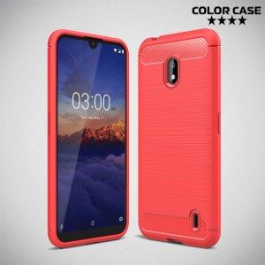 Carbon Силиконовый матовый чехол для Nokia 2.2 - Коралловый