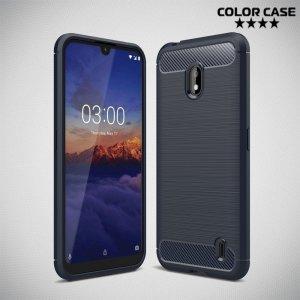 Carbon Силиконовый матовый чехол для Nokia 2.2 - Синий