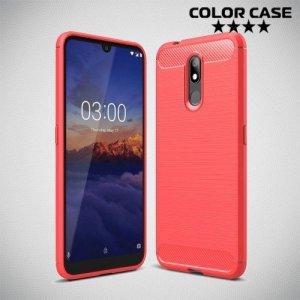 Carbon Силиконовый матовый чехол для Nokia 3.2 - Коралловый