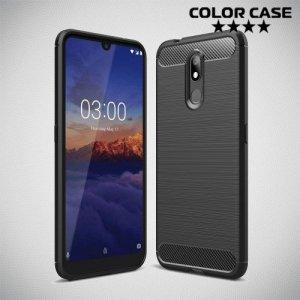Carbon Силиконовый матовый чехол для Nokia 3.2 - Черный