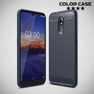 Carbon Силиконовый матовый чехол для Nokia 3.2 - Синий