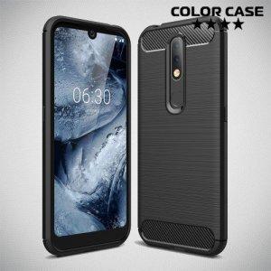 Carbon Силиконовый матовый чехол для Nokia 4.2 - Черный