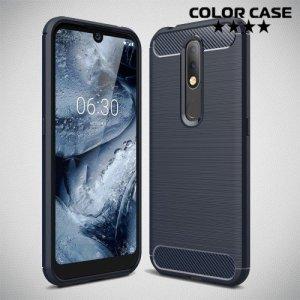 Carbon Силиконовый матовый чехол для Nokia 4.2 - Синий