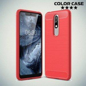 Carbon Силиконовый матовый чехол для Nokia 5.1 Plus - Коралловый