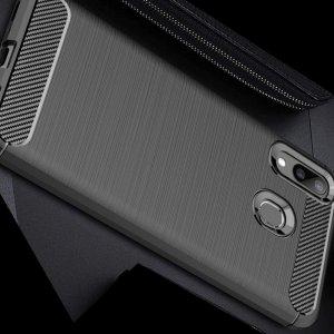 Carbon Силиконовый матовый чехол для Oppo Realme 3 Pro / X Lite - Черный цвет