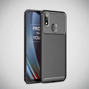 Carbon Силиконовый матовый чехол для Oppo Realme 3 Pro / X Lite - Черный