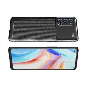 Carbon Силиконовый матовый чехол для Oppo Reno4 Pro 5G - Черный