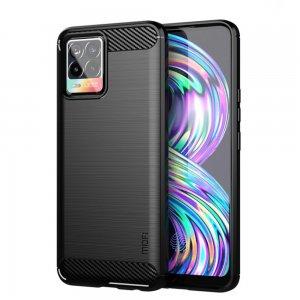 Carbon Силиконовый матовый чехол для Realme 8 / 8 Pro - Черный