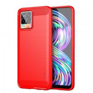 Carbon Силиконовый матовый чехол для Realme 8 / 8 Pro - Красный