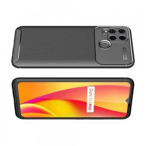 Carbon Силиконовый матовый чехол для Realme C15 - Черный