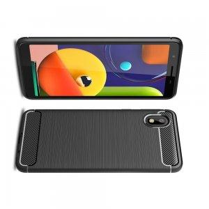 Carbon Силиконовый матовый чехол для Samsung Galaxy A01 Core - Черный