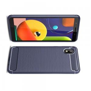 Carbon Силиконовый матовый чехол для Samsung Galaxy A01 Core - Синий