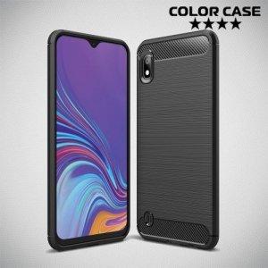 Carbon Силиконовый матовый чехол для Samsung Galaxy A10 - Черный