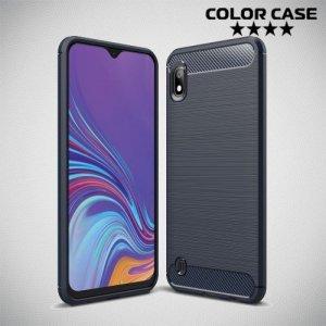 Carbon Силиконовый матовый чехол для Samsung Galaxy A10 - Синий