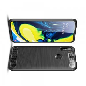 Carbon Силиконовый матовый чехол для Samsung Galaxy A11 - Черный