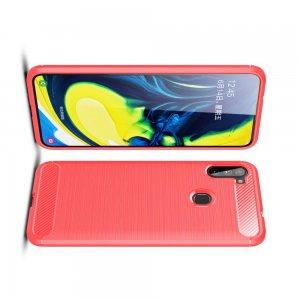 Carbon Силиконовый матовый чехол для Samsung Galaxy A11 - Красный