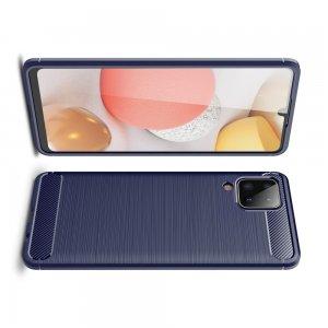 Carbon Силиконовый матовый чехол для Samsung Galaxy A12 - Синий