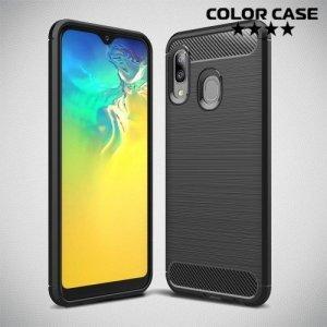 Carbon Силиконовый матовый чехол для Samsung Galaxy A20e - Черный