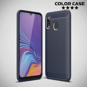 Carbon Силиконовый матовый чехол для Samsung Galaxy A30 / A20 - Синий