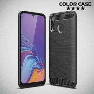 Carbon Силиконовый матовый чехол для Samsung Galaxy A30 / A20 - Черный