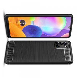 Carbon Силиконовый матовый чехол для Samsung Galaxy A31 - Черный