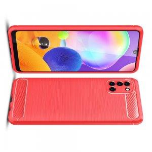 Carbon Силиконовый матовый чехол для Samsung Galaxy A31 - Коралловый