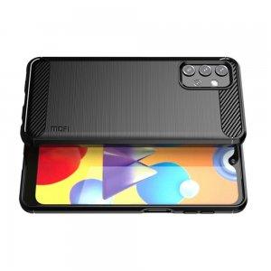 Carbon Силиконовый матовый чехол для Samsung Galaxy A32 - Черный