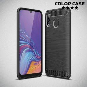 Carbon Силиконовый матовый чехол для Samsung Galaxy A40 - Черный