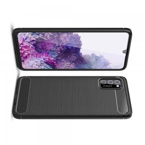 Carbon Силиконовый матовый чехол для Samsung Galaxy A41 - Черный