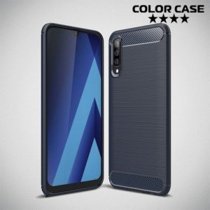 Carbon Силиконовый матовый чехол для Samsung Galaxy A50 / A30s - Синий