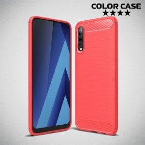 Carbon Силиконовый матовый чехол для Samsung Galaxy A50 / A30s - Коралловый
