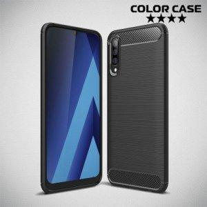 Carbon Силиконовый матовый чехол для Samsung Galaxy A50 / A30s - Черный