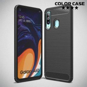 Carbon Силиконовый матовый чехол для Samsung Galaxy A60 - Черный