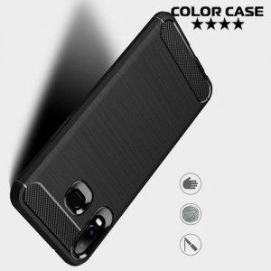 Carbon Силиконовый матовый чехол для Samsung Galaxy A6s - Черный