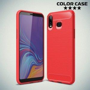 Carbon Силиконовый матовый чехол для Samsung Galaxy A6s - Коралловый