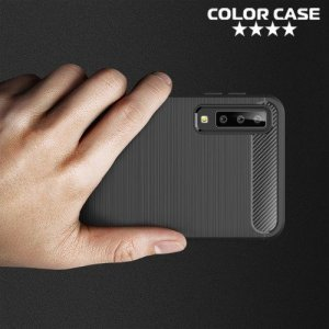 Carbon Силиконовый матовый чехол для Samsung Galaxy A7 2018 SM-A750F - Черный
