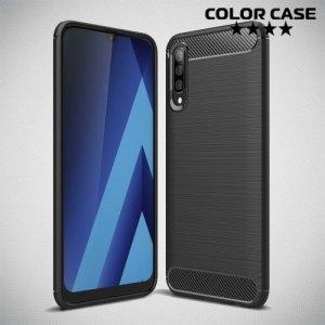 Carbon Силиконовый матовый чехол для Samsung Galaxy A70 - Черный