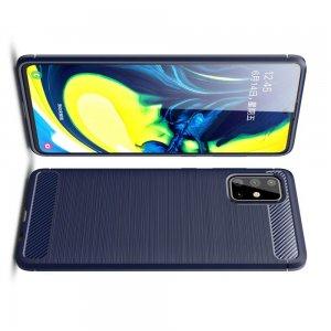 Carbon Силиконовый матовый чехол для Samsung Galaxy A71 - Синий