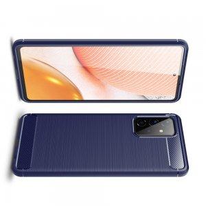 Carbon Силиконовый матовый чехол для Samsung Galaxy A72 - Синий