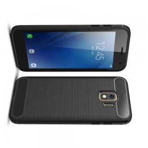 Carbon Силиконовый матовый чехол для Samsung Galaxy J2 Core (2020) - Черный